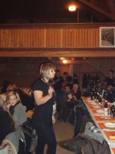 Soirée raclette à la Jeunesse d'Orzens en 2013